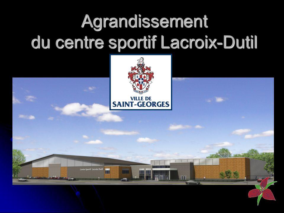 Agrandissement du centre sportif Lacroix-Dutil P H OT O