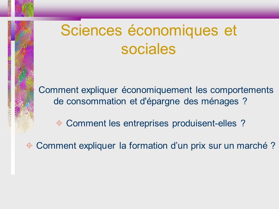 Comment expliquer économiquement les comportements de consommation et d'épargne des ménages ? Comment les entreprises produisent-elles ? Comment expli