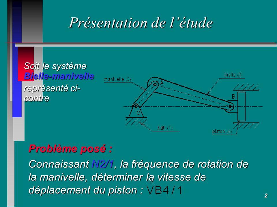1 Cinématique du solide Objectifs du cours : n Léquiprojectivité des vitesses n Le centre instantané de rotation Connaître les méthodes graphiques de détermination dun vecteur vitesse.