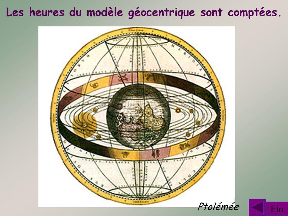 Les heures du modèle géocentrique sont comptées. Fin Ptolémée