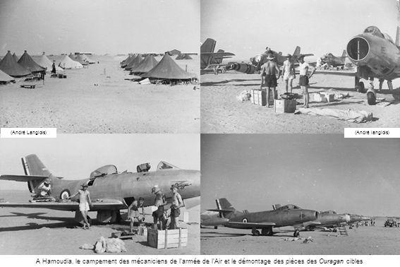 A Hamoudia, le campement des mécaniciens de larmée de lAir et le démontage des pièces des Ouragan cibles (André Langlois)(André langlois)