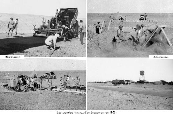 Entrée de la base (Morurea.org) 1958 – Recherche de leau Construction dun laboratoire souterrain (Morurea.org)