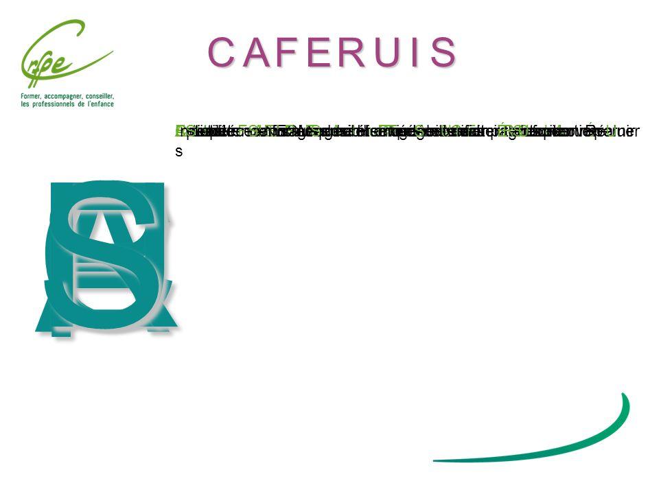 C A F E R U I S Centre Régional de Formation des Professionnels de lEnfance, Département Formation Continue 14 bd Vauban 59042 LILLE cedex / tél.