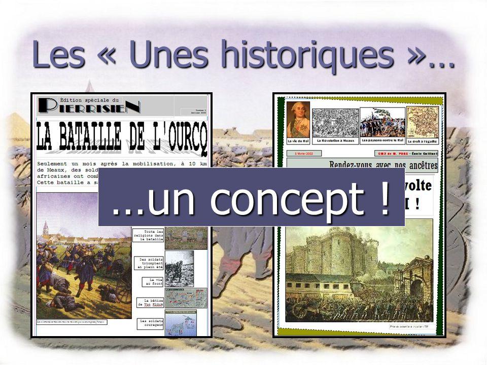 Les « Unes historiques »… La démarche pédagogique Tous les textes produits seront produits en respectant le plus possible la démarche journalistique.