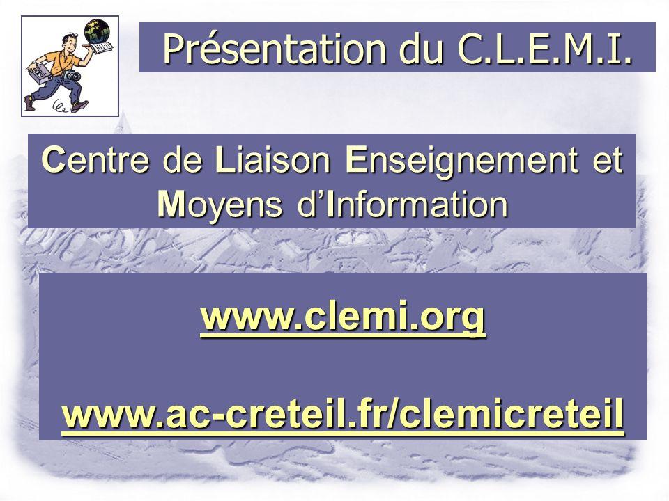 Présentation du C.L.E.M.I.