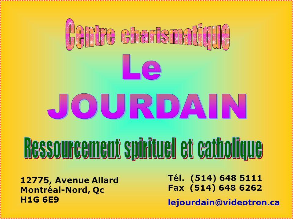 .. Chers Confrères, Le Frère Marcel Plante, qui travaille au Centre charismatique «Le Jourdain», à Montréal Nord, ma demandé de faire un diaporama sur