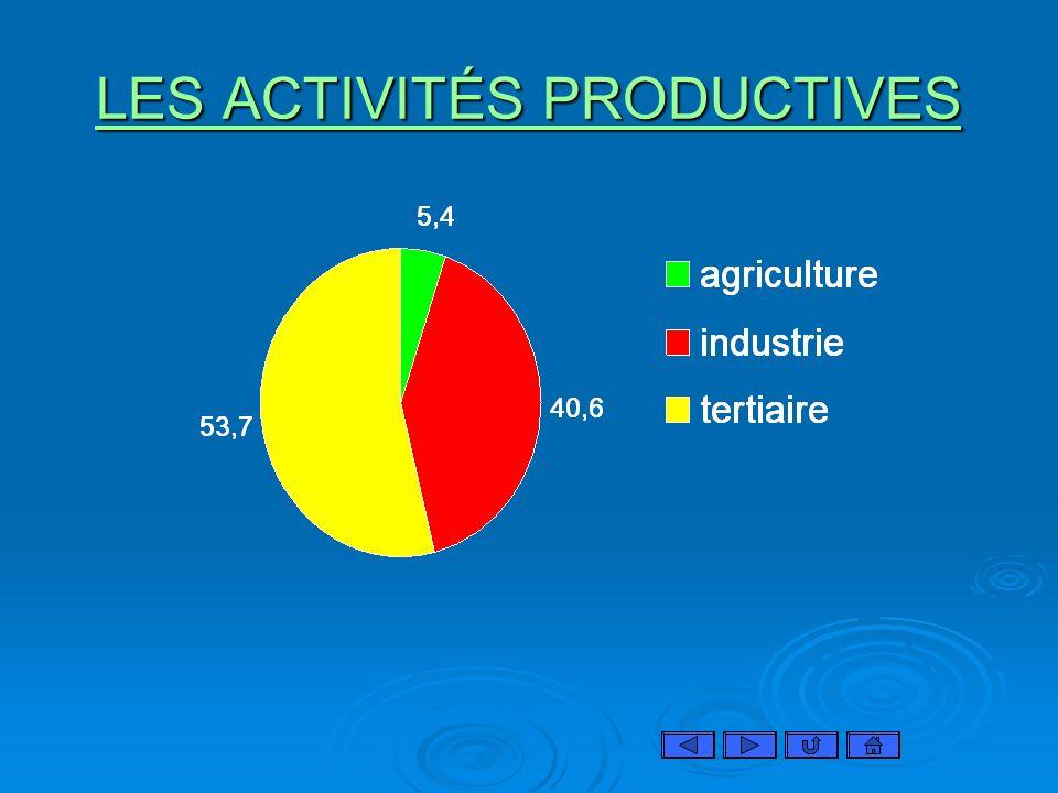 LES ACTIVITÉS PRODUCTIVES LES ACTIVITÉS PRODUCTIVES