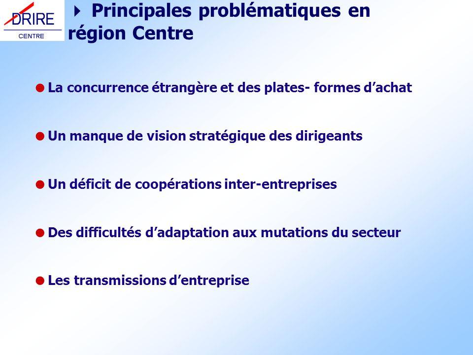 La concurrence étrangère et des plates- formes dachat Un manque de vision stratégique des dirigeants Un déficit de coopérations inter-entreprises Des