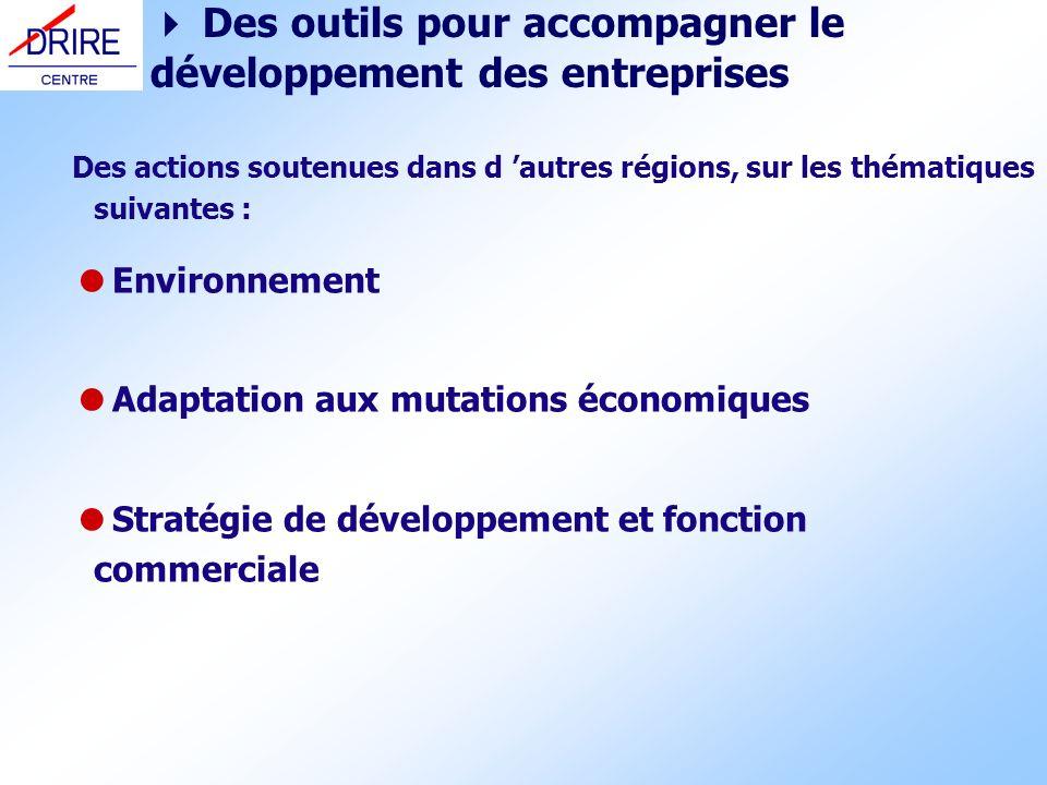Des actions soutenues dans d autres régions, sur les thématiques suivantes : Environnement Adaptation aux mutations économiques Stratégie de développe