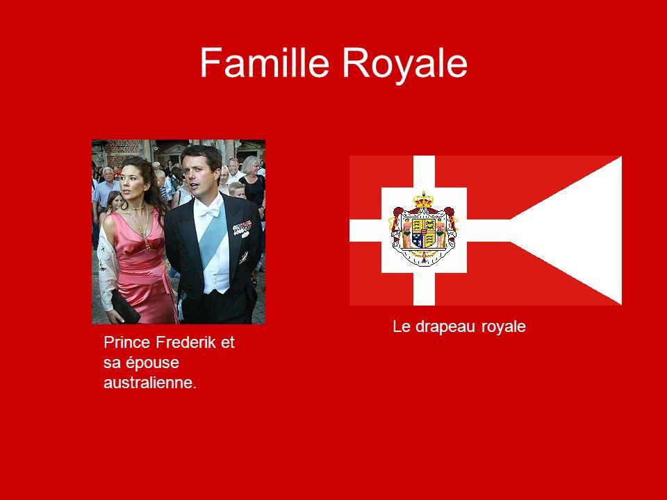 Famille Royale Prince Frederik et sa épouse australienne. Le drapeau royale