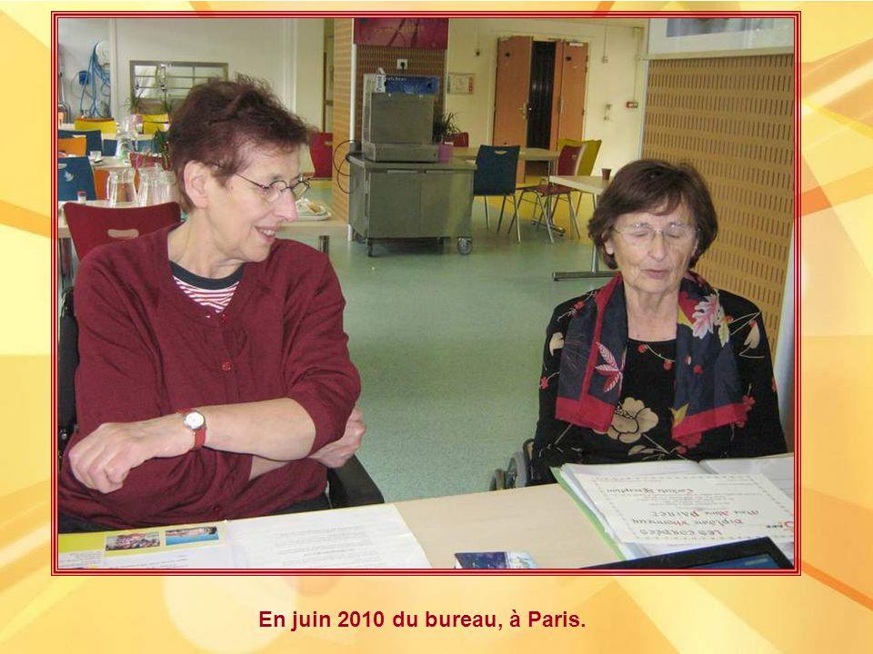 En janvier 2010, à Paris, bien présente pour la remise des prix au concours des Cordées