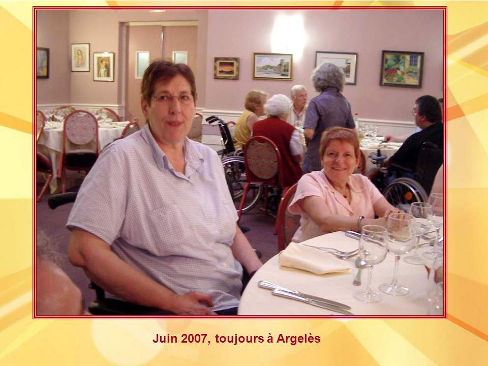 2007 : Evelyne et Jean-Charles à Argelès aux premières journées nationales des cordées.