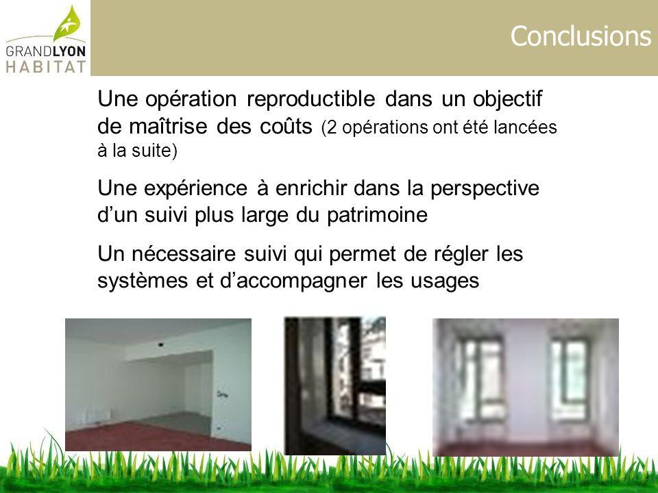 Conclusions Une opération reproductible dans un objectif de maîtrise des coûts (2 opérations ont été lancées à la suite) Une expérience à enrichir dan