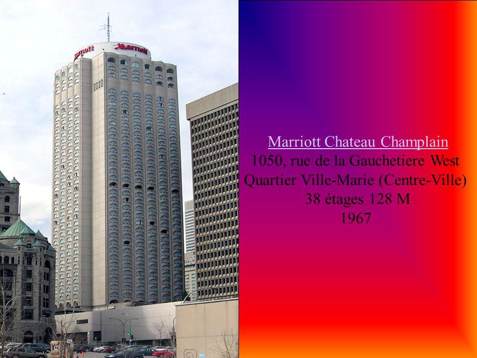 le Centre Sheraton Montréal Hotel le Centre Sheraton Montréal Hotel 1201, boulevard René-Lévesque Ouest Quartier Ville-Marie (Centre-Ville) 38 étages