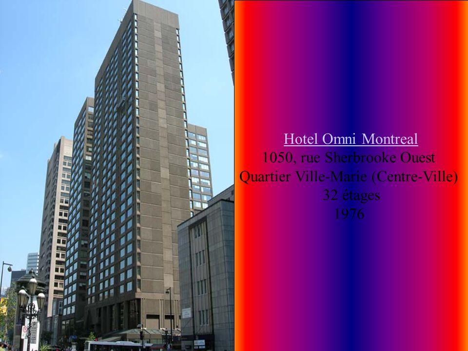 Banque Nationale Le 500 Place D'Armes) Le 500 Place D'Armes) 500, Place d'Armes Quartier Vieux-Montréal 32 étages 133 M 1968