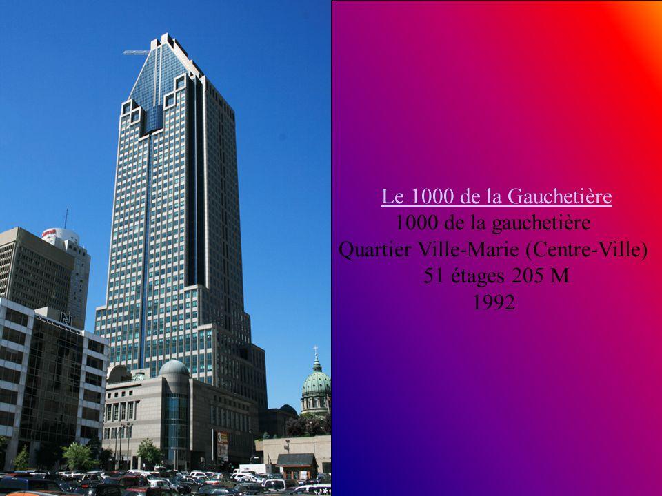 Hôtel Hilton Garden Inn Montreal centre-ville centre-ville 400, rue Sherbrooke Ouest Quartier Ville-Marie (Centre-Ville) 35 étages 2008