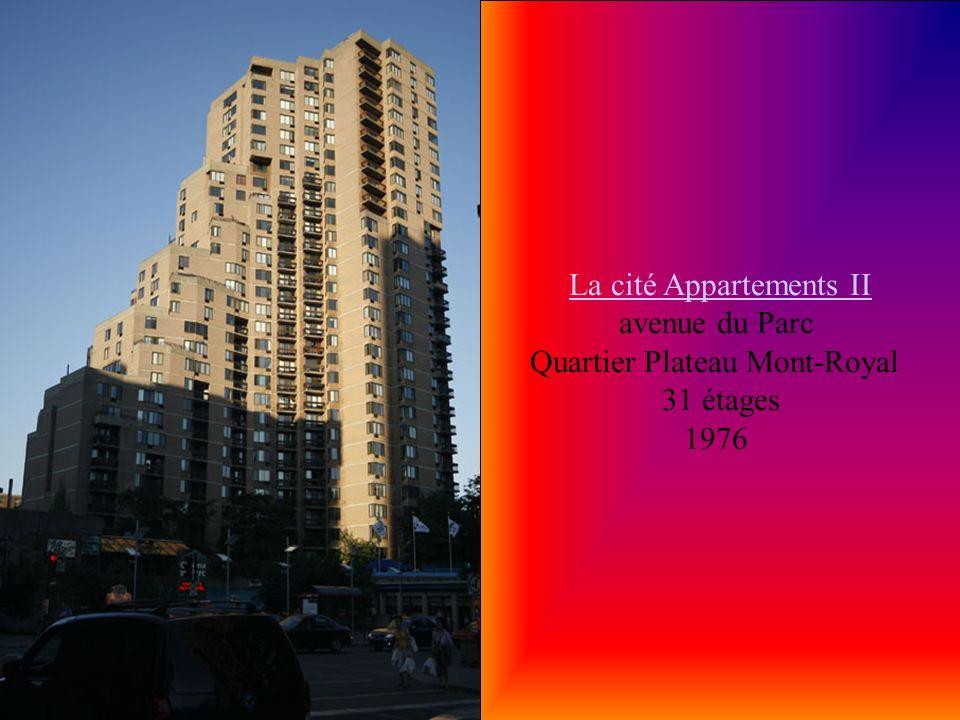 Complexe Desjardins Tour Est Complexe Desjardins Tour Est Boulevard René-Lévesque Ouest Quartier Ville-Marie (Centre-Ville) 32 étages 130 M 1976