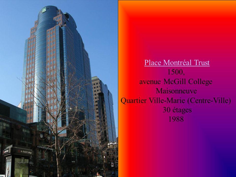 La cité Appartements II La cité Appartements II avenue du Parc Quartier Plateau Mont-Royal 31 étages 1976