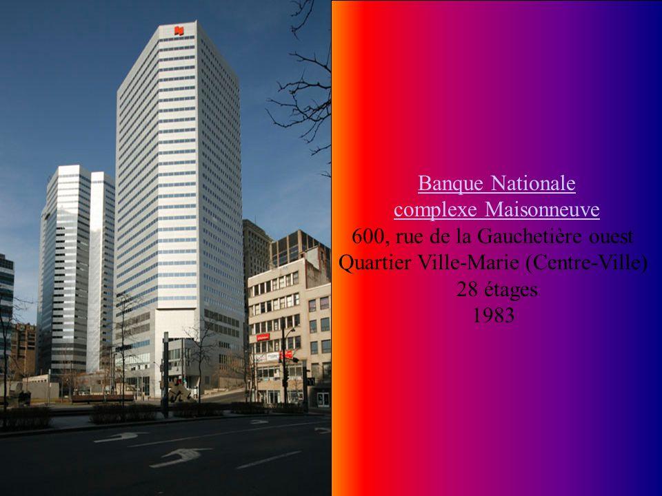 Le Cartier Apartments Le Cartier Apartments 1115, rue Sherbrooke Ouest Quartier Ville-Marie (Centre-Ville) 29 étages 98 M 1965