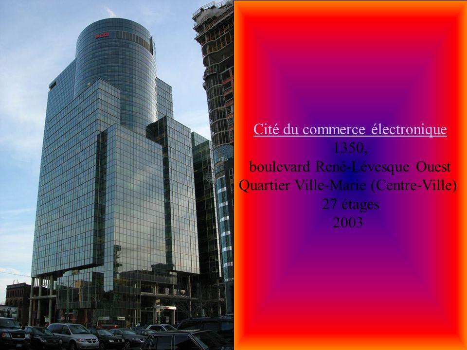 La Cité Appartements I La Cité Appartements I rue Prince-Arthur / Avenue du Parc Quartier Plateau Mont-Royal 28 étages 1976