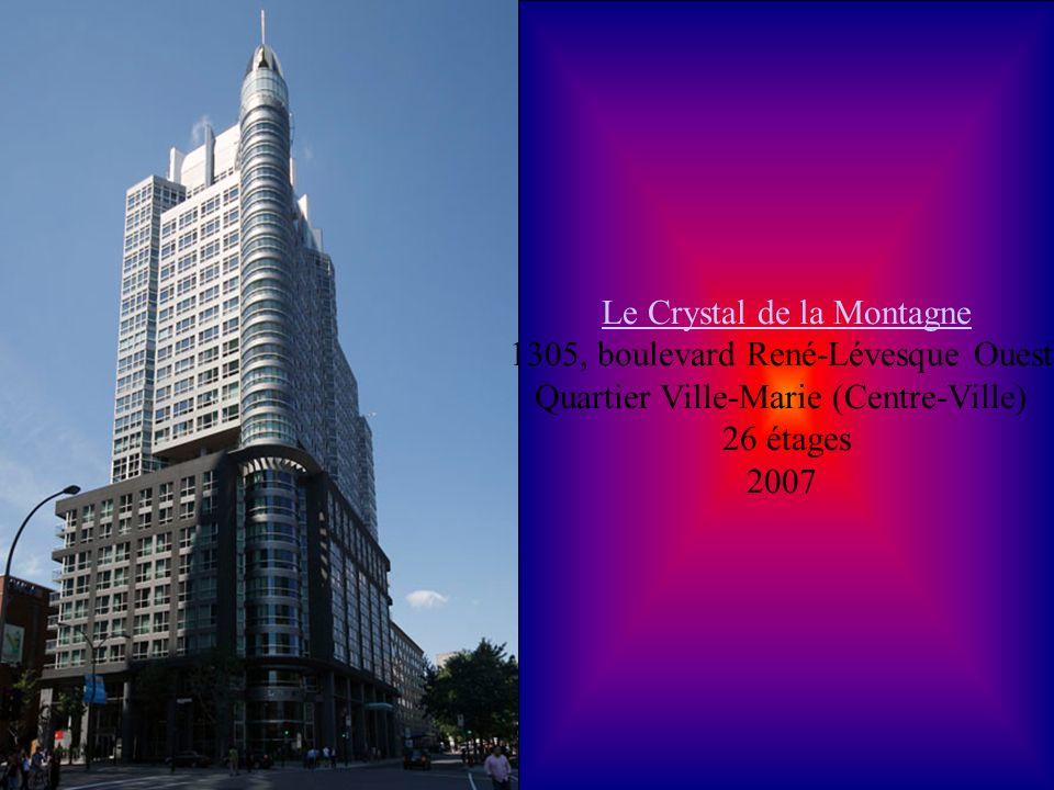 Cité du commerce électronique Cité du commerce électronique 1350, boulevard René-Lévesque Ouest Quartier Ville-Marie (Centre-Ville) 27 étages 2003