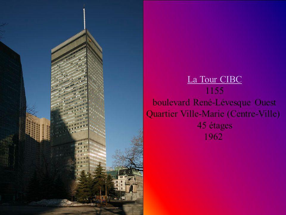 Tour Telus Tour Telus 630, Boulevard René-Lévesque Ouest / University Quartier Ville-Marie (Centre-Ville) 34 étages 131 M 1962