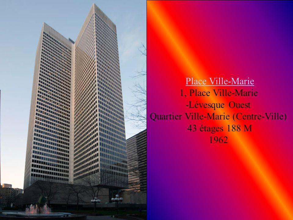 Port-Royal Port-Royal 1455, rue Sherbrooke Ouest Quartier Ville-Marie (Centre-Ville) 33 étages 122 M 1966