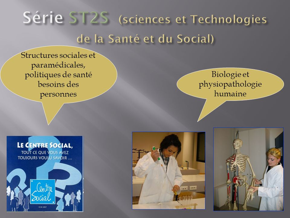 Structures sociales et paramédicales, politiques de santé besoins des personnes Biologie et physiopathologie humaine