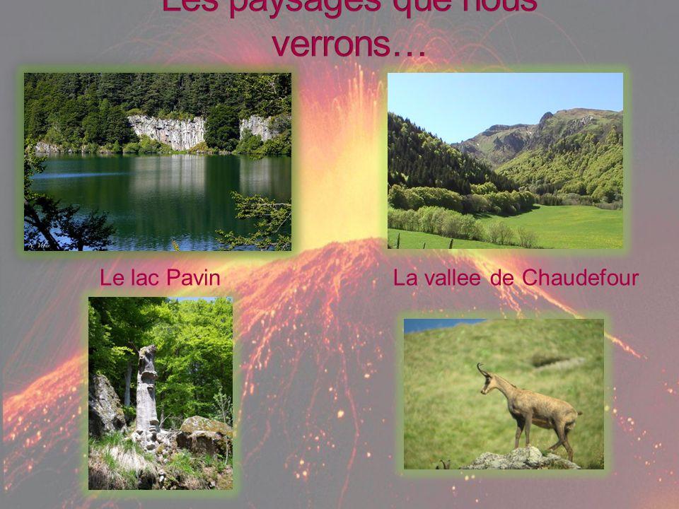 Le lac PavinLa vallee de Chaudefour