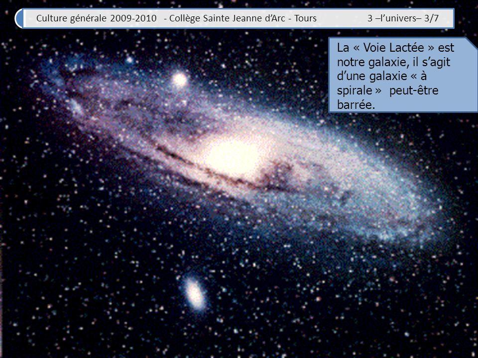 Culture générale 2009-2010 - Collège Sainte Jeanne dArc - Tours 3 –lunivers– 4/7 La séquence de Hubble