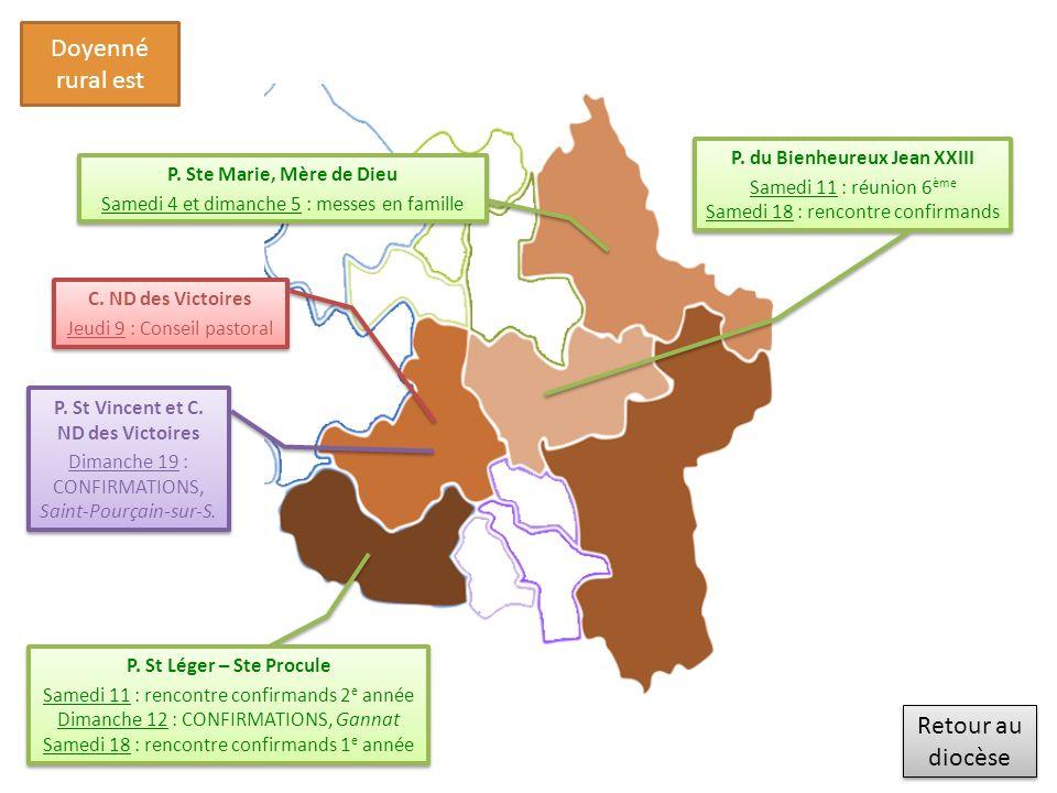 Retour au diocèse Retour au diocèse Doyenné rural est P.