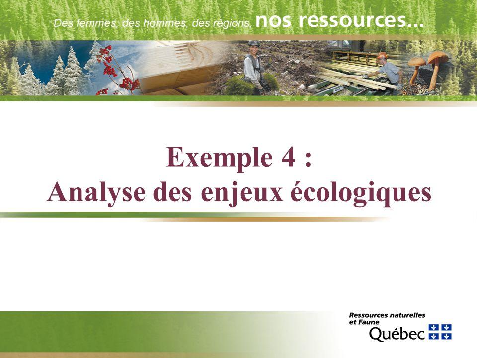 Exemple 4 : Analyse des enjeux écologiques