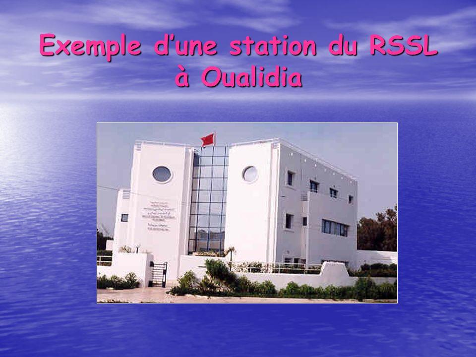 Exemple dune station du RSSL à Oualidia