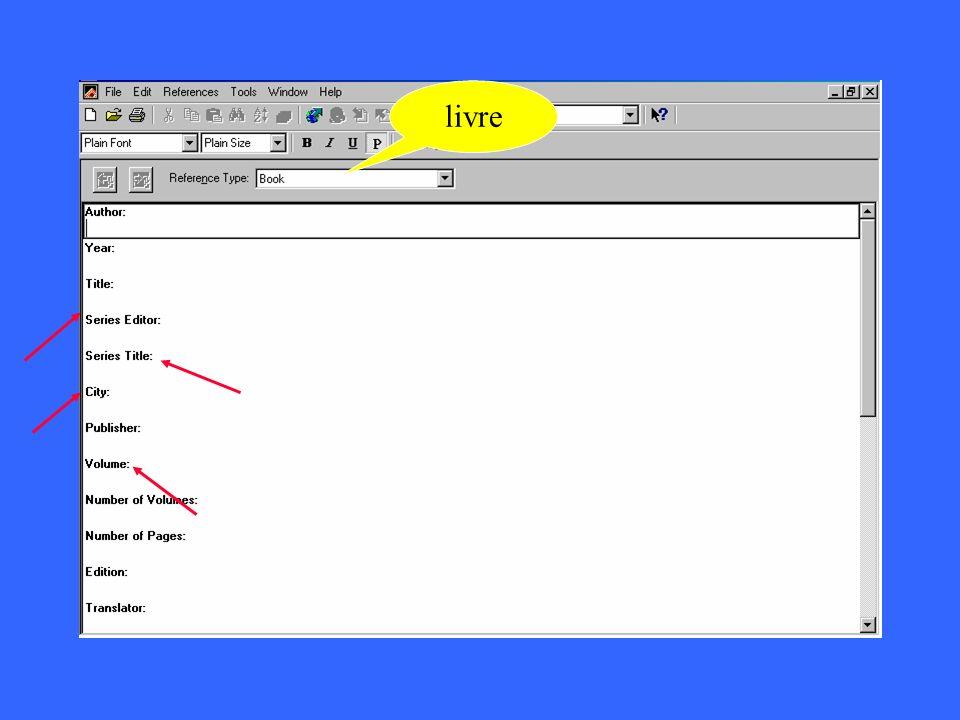 journal livre manuscri t magazine thèse film carte … choisir le type de références