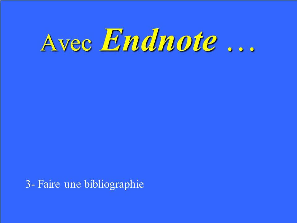 dans Word Icône Endnote