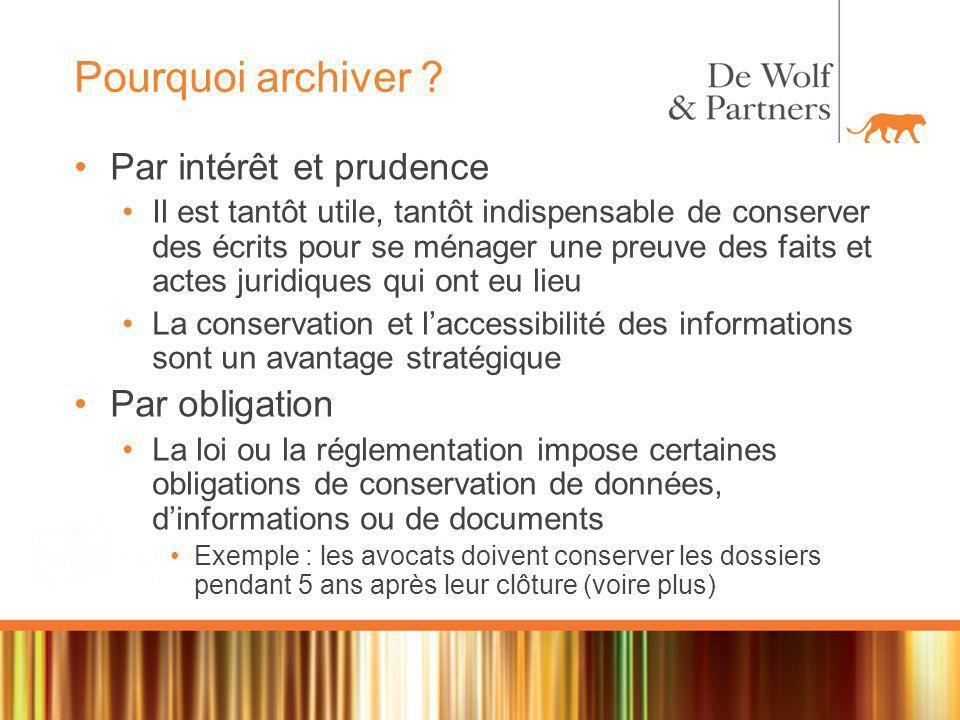 Archivage électronique Définition Tout service dont lobjet principal est la conservation des données électroniques