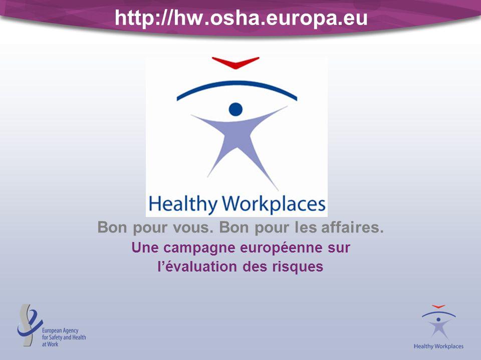 http://hw.osha.europa.eu Bon pour vous. Bon pour les affaires. Une campagne européenne sur lévaluation des risques