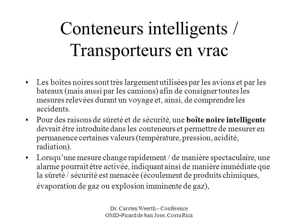 Dr. Carsten Weerth – Conférence OMD-Picard de San Jose, Costa Rica Conteneurs intelligents / Transporteurs en vrac Les boîtes noires sont très largeme