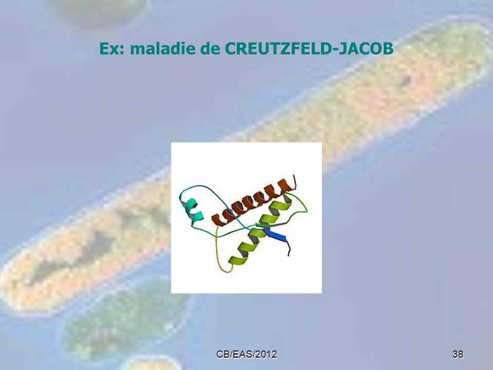 Ex: maladie de CREUTZFELD-JACOB CB/EAS/201238