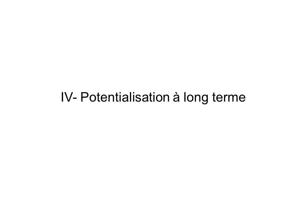 IV- Potentialisation à long terme