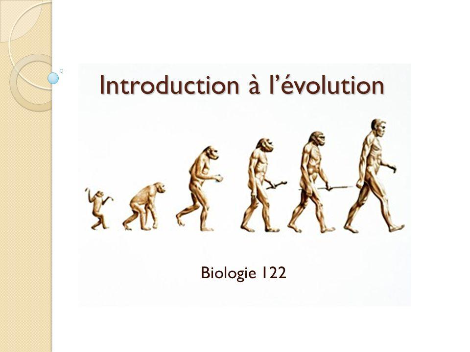 Introduction à lévolution Biologie 122