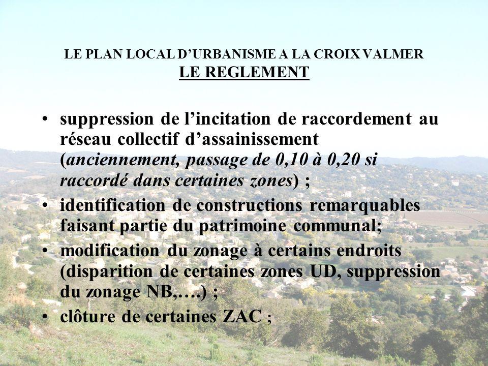 LE PLAN LOCAL DURBANISME A LA CROIX VALMER LE REGLEMENT suppression de lincitation de raccordement au réseau collectif dassainissement (anciennement,