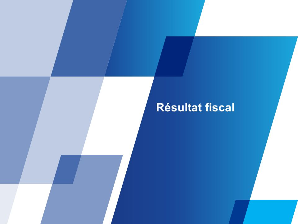 Résultat fiscal