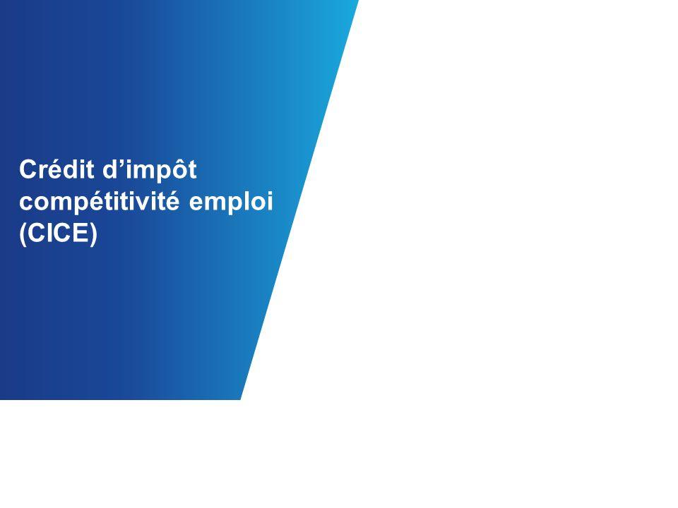 Crédit dimpôt compétitivité emploi (CICE)