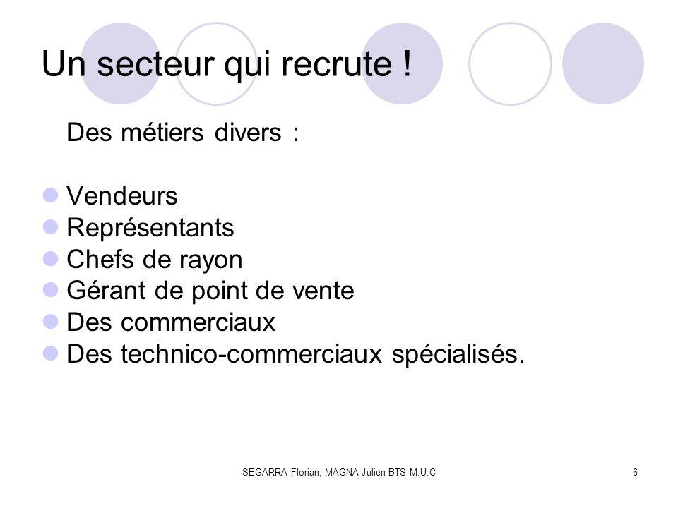 SEGARRA Florian, MAGNA Julien BTS M.U.C17 Les écoles de commerce recrutent principalement sur concours et à différents niveaux.