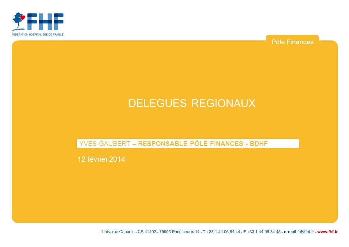 DELEGUES REGIONAUX YVES GAUBERT – RESPONSABLE PÔLE FINANCES - BDHF 12 février 2014 Pôle Finances