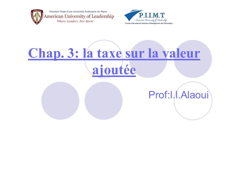 Introduction : La taxe sur la valeur ajoutée « TVA » est entrée en vigueur au Maroc le 1 Avril 1986 par le Dahir du 20/12/85, loi n°30-85 (BO.n°3818 du 1/01/86).