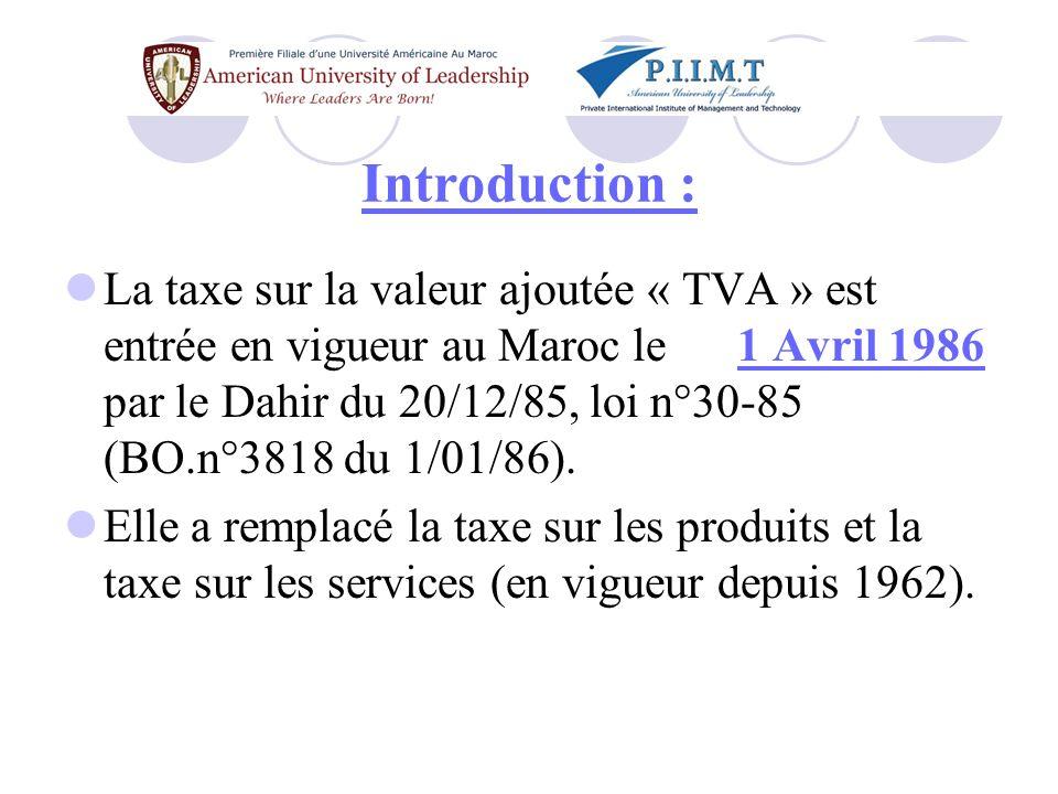 Introduction : Les anciennes taxes sur le CA avec les multiples retouches apportées au fil des ans en avaient fait un système complexe et difficile à gérer.