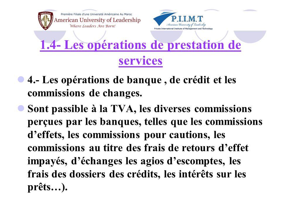 5.- Les professions libérales, ou assimilées.
