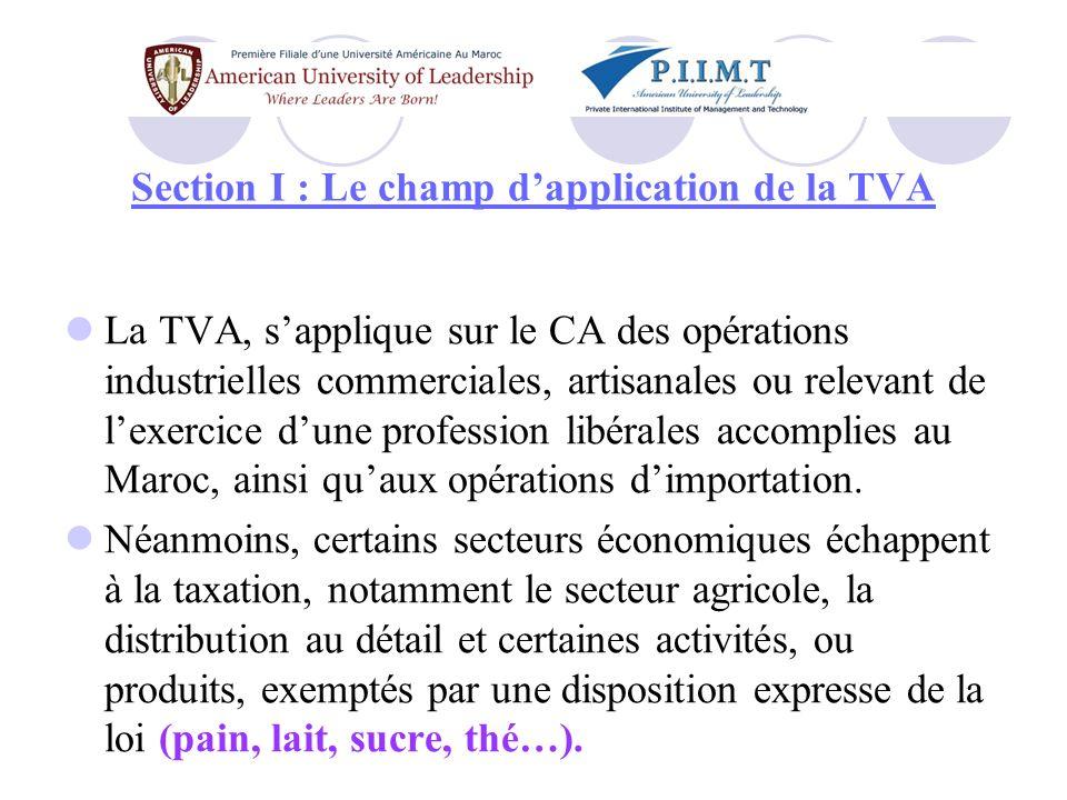 §.I- Les activités taxables Quelles sont les activités taxables .